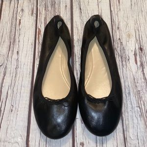 J. Crew black leather ballet flats size 10 EUC